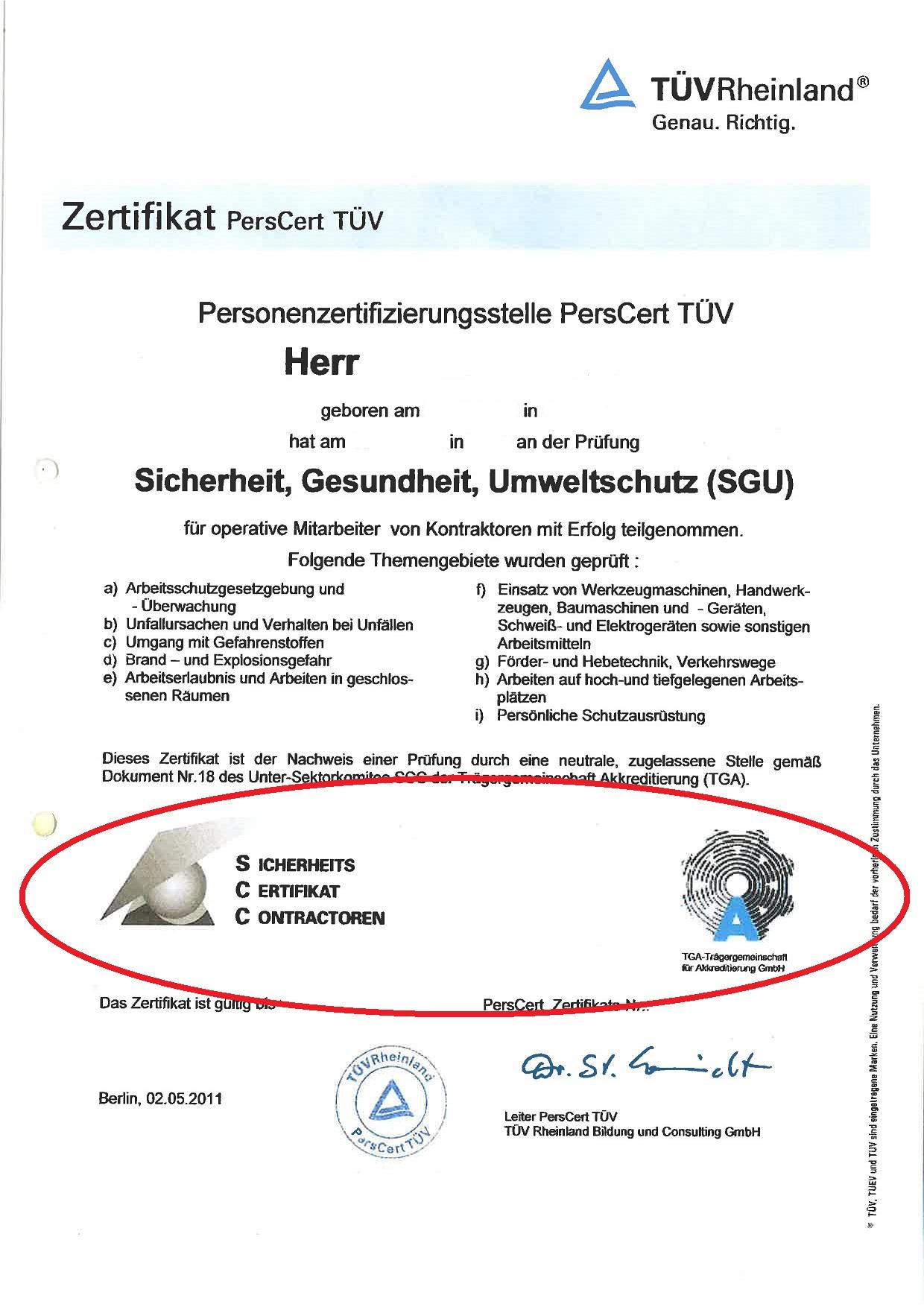 Geldig VCA certificaat