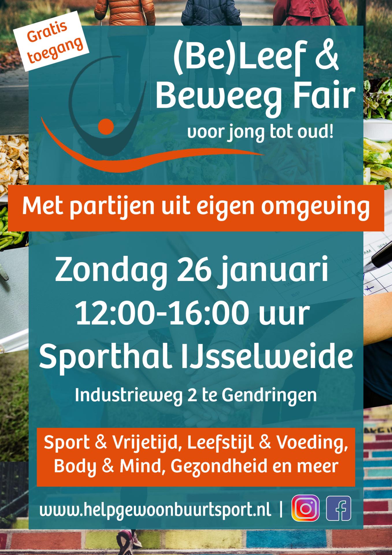 Poster Beleef en Beweeg Fair