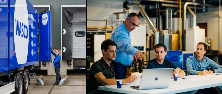 Wasco hanteert hoge standaarden waar het gaat om de veiligheid van zijn mensen, producten en activiteiten en wat betreft de werkomgeving van ons personeel.