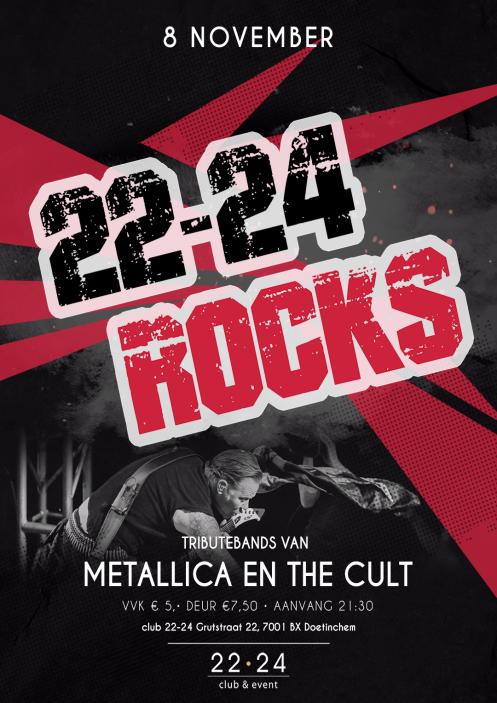22-24 Rocks! X Metallica & The Cult Tributes