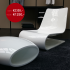 Chaise longue met voetenbank Nouvelle Vague, Porro